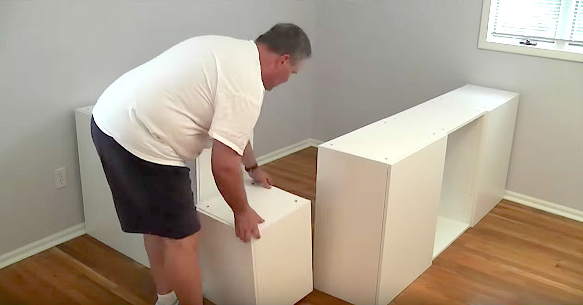 » He Moves 7 Kitchen Cabinets To The Bedroom. Now Watch ...