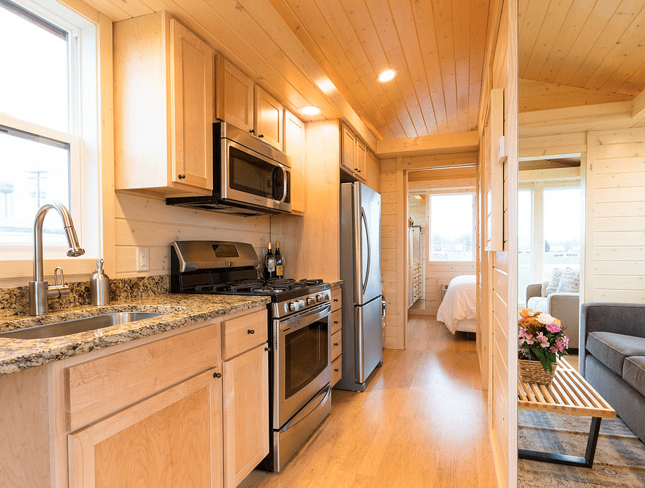 Peek inside this charming cabin getaway its simplified living at