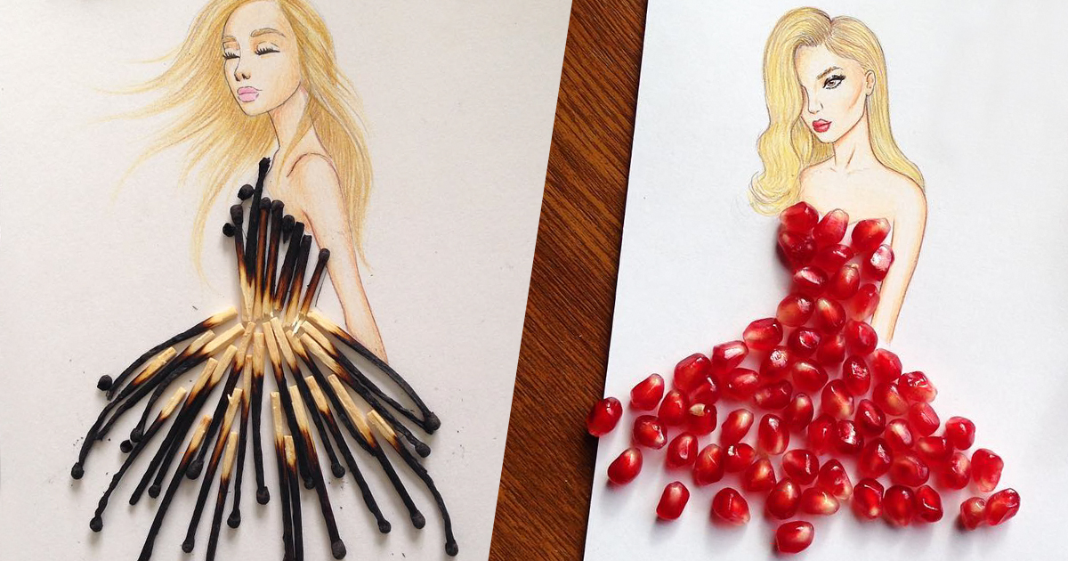 Fashion Designer Creates Mesmerizing Dress Designs Using Everyday ...