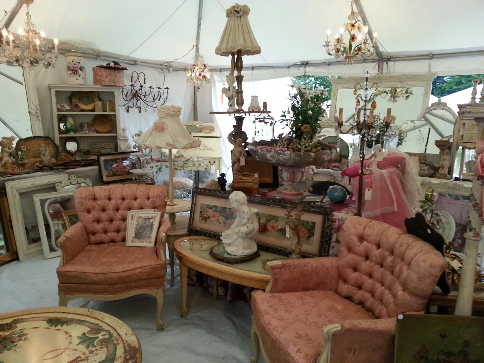 inside-tent-at-an-antique-fair