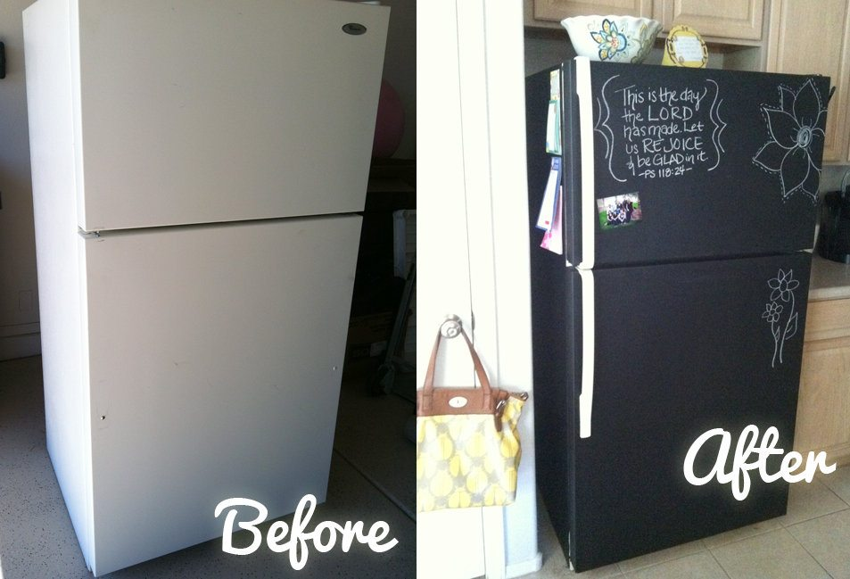 17 nifty ways to use chalkboard paint around the house for Chalkboard appliance paint
