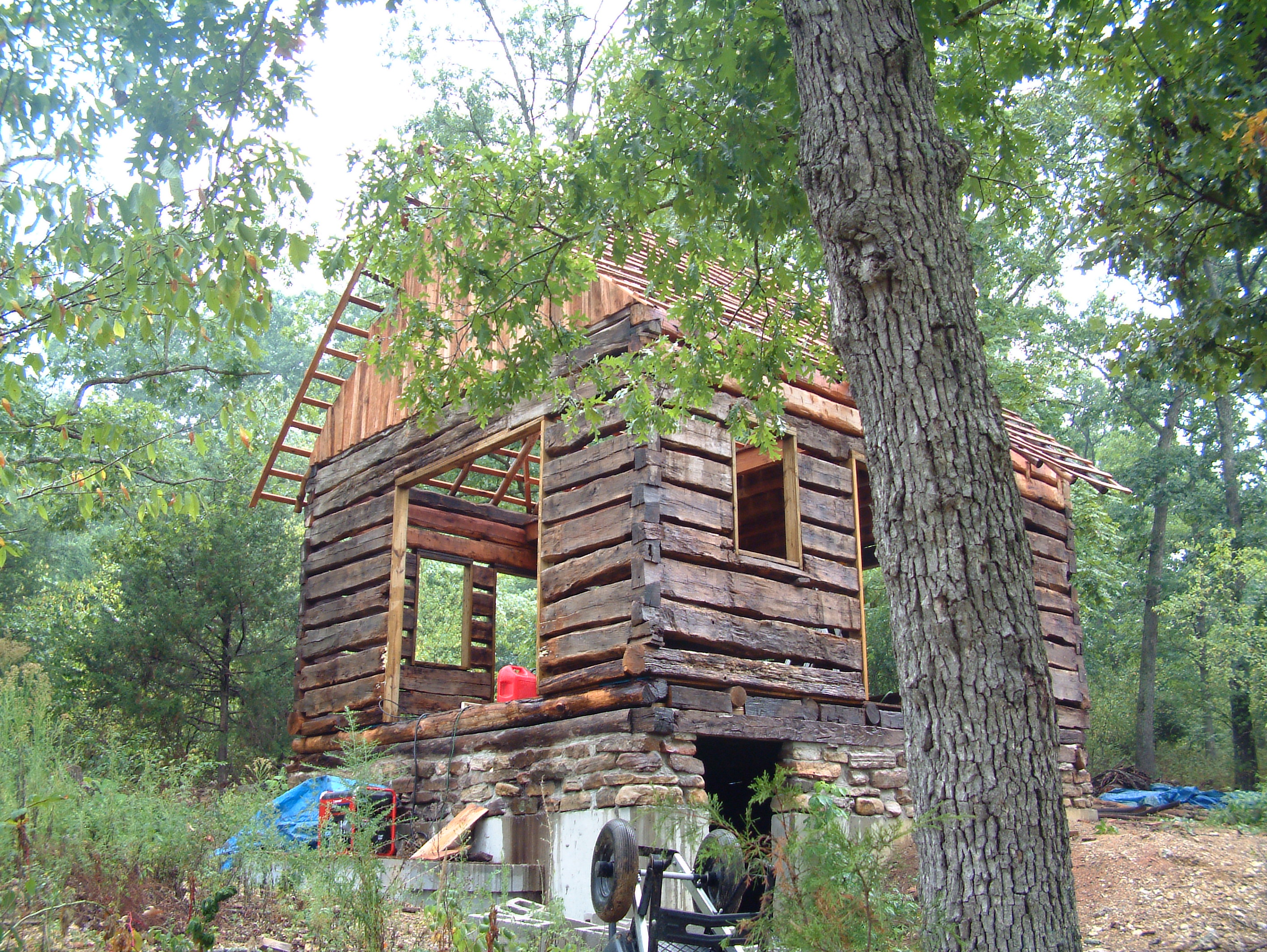 Retired Man Finds Broken Down Cabin From 1830s. Now Watch How He . Full resolution‎  pic, nominally Width 2832 Height 2128 pixels, pic with #81784A.