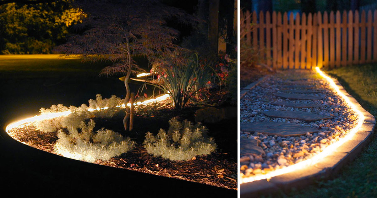 Use Rope Lights To Really Make Your Backyard Sparkle