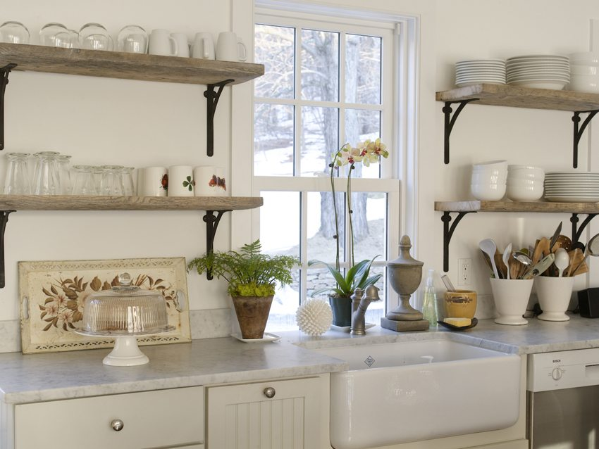 reclaimed-wood-shelves-for-white-kitchen