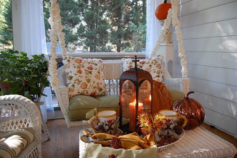 Using A Tray With Simple Decor Can Not Only Save You A Lot Of Money With  Decorating, But It Can Also Save You All That Hassle! Fall Porch