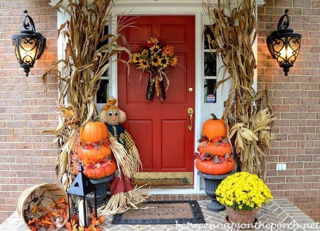 Fall Porch Decor. Stunning Picture Of Fall Porch Decorating Ideas ...